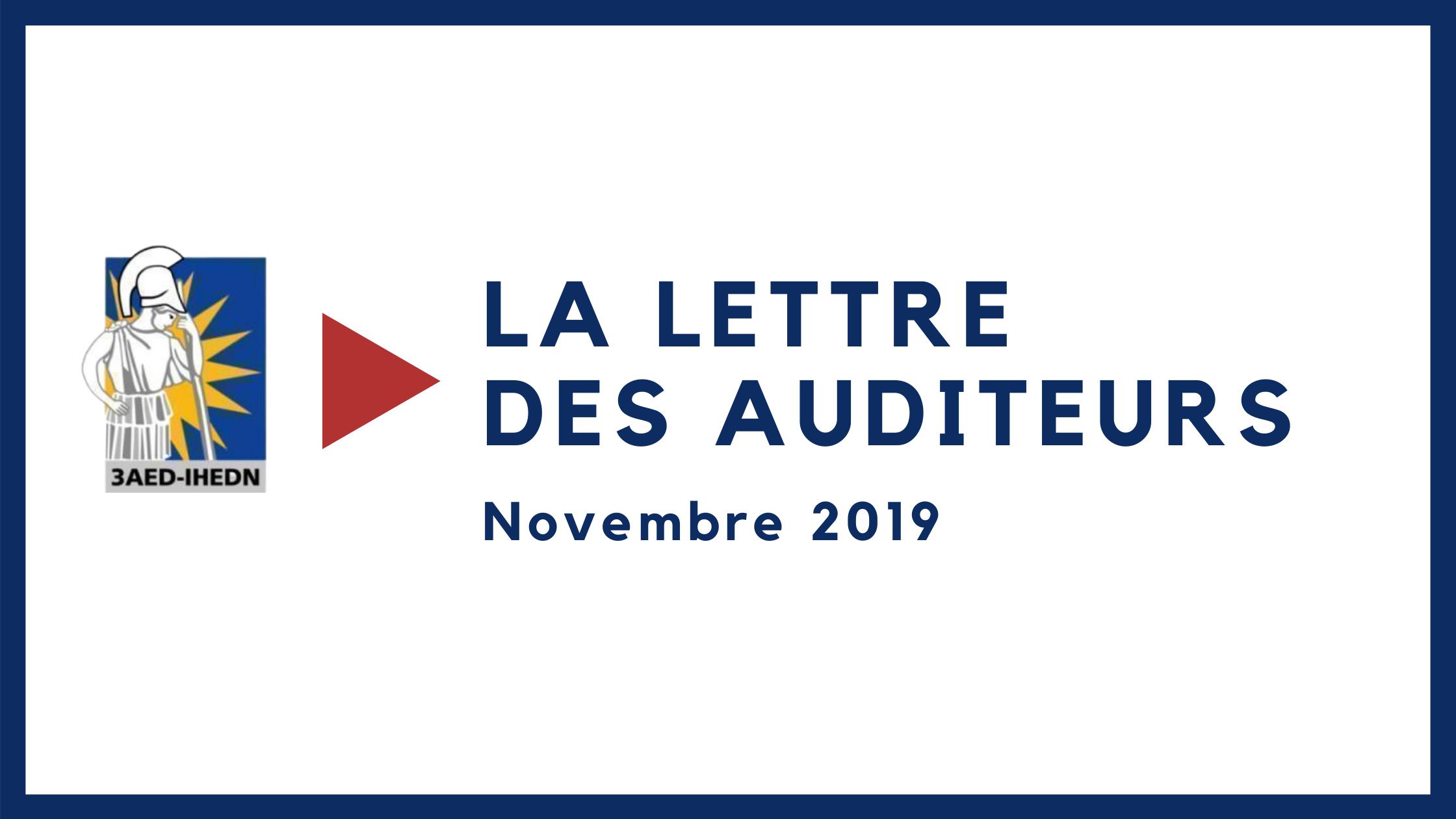 La lettre des auditeurs novembre 2019